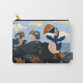 Happy Puffins Carry-All Pouch