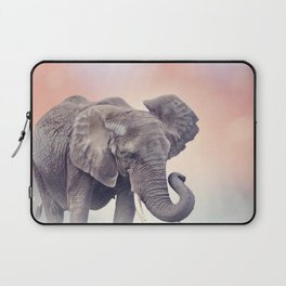 African Elephant walking in the grassland at sunset Laptop Sleeve