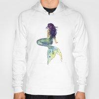 mermaid Hoodies featuring Mermaid by Sam Nagel