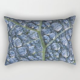 Cool water drops dew texture leaf Rectangular Pillow