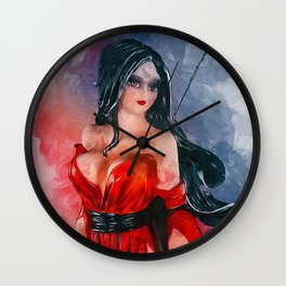 Samurai Woman Wall Clock