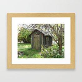 Grandma's Bath House Framed Art Print