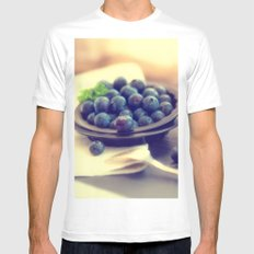 Blueberry plate Mens Fitted Tee MEDIUM White