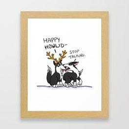 Happy Howlidays Framed Art Print
