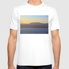 Mountains White Mens Fitted Tee MEDIUM