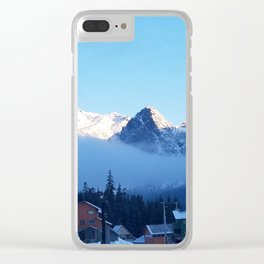 A Winter Mornng at Summit at Snoqualmie Clear iPhone Case