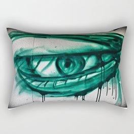 Green-eyed Beauty Rectangular Pillow