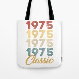 Vintage Retro Born In 1975 44th Birthday Gift Tote Bag