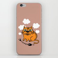 fat iPhone & iPod Skins featuring FAT CAT by Alberto Corradi