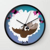 aries Wall Clocks featuring Aries by Maria Jose Da Luz