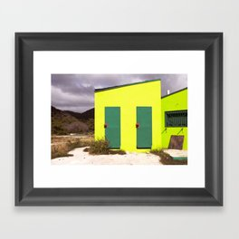 Caribbean Beach House Framed Art Print