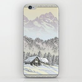 SNOWED IN PEN DRAWING COLOR VERSION iPhone Skin