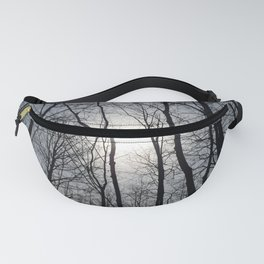 White Sky, Black Trees Fanny Pack