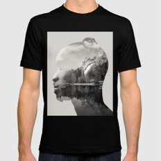 Feel The Sound Black MEDIUM Mens Fitted Tee