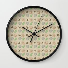 Cream Shells Wall Clock