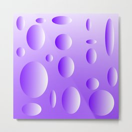 Lilac bubble design Metal Print