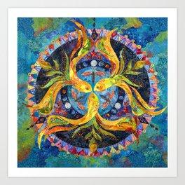 Pond Mandala Art Print