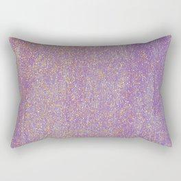 Elegant purple lavender faux gold glitter Rectangular Pillow