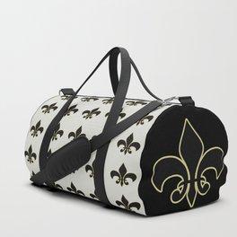 Fleur de lis.... ivory,gold and black Duffle Bag