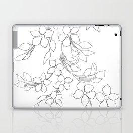 Minimal Wild Roses Line Art Laptop & iPad Skin