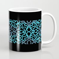 celtic Mugs featuring celtic blue by Ariadne