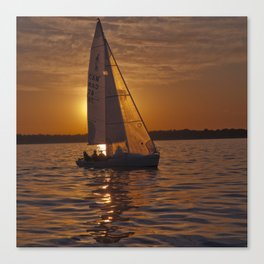 Sail into the sunset Canvas Print