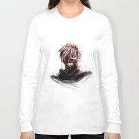 tokyo ghoul Long Sleeve T-shirts featuring Kaneki - Tokyo Ghoul by Fisukenka
