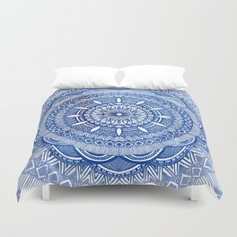 Calming Blue Mandala Duvet Cover