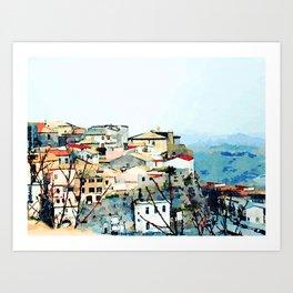 Catanzaro: view of the historic center Art Print