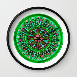 Into the Forest Mandala Wall Clock