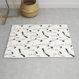 Rising Cranes pattern Rug