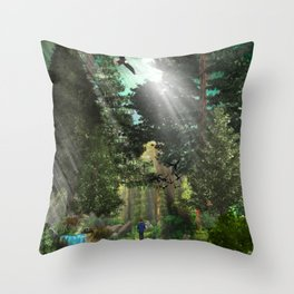 Forest Wisdom Throw Pillow