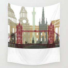 London skyline poster Wall Tapestry