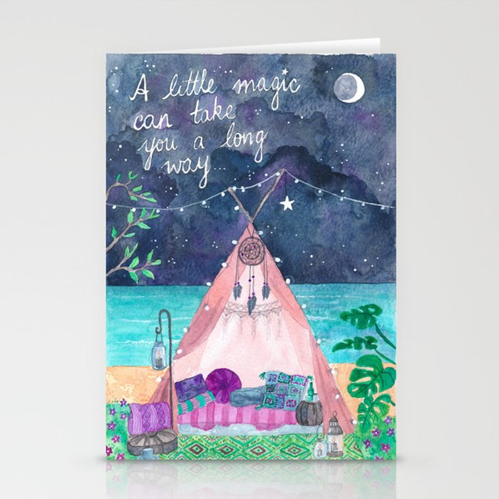 A little magic can take you a long way... Stationery Cards