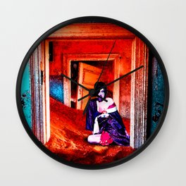 The Woman in the Dunes Wall Clock