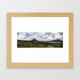 Kitimani Volcano Bali Framed Art Print