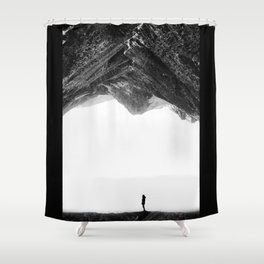 Lost in isolation Shower Curtain