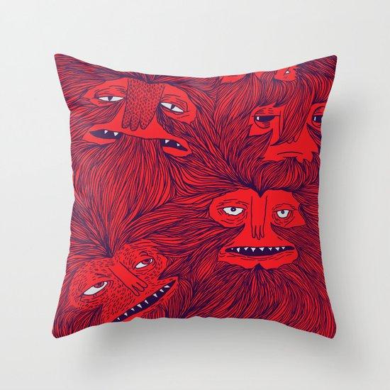 Hairwolves Throw Pillow