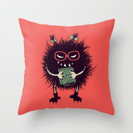 Evil Bug Student Loves To Read Throw Pillow