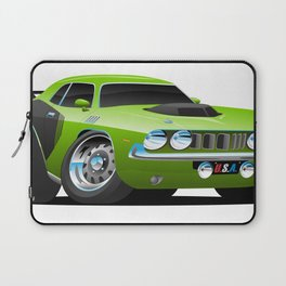 Classic Seventies Style American Muscle Car Cartoon Laptop Sleeve