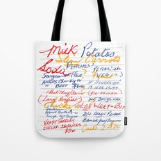 Grandmother's Shopping List Tote Bag