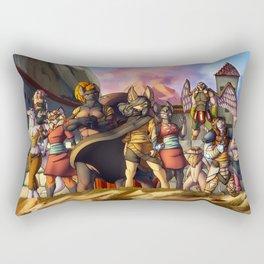 Menacing defense Rectangular Pillow