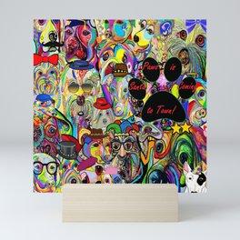 Santa Paws is Coming to Town Mini Art Print
