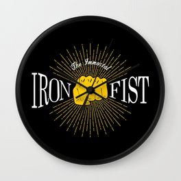 The Immortal Iron Fist Vintage Style Wall Clock