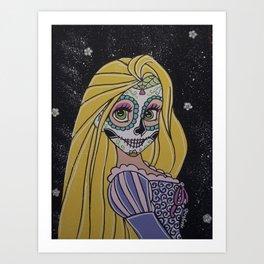 Rupunzel Sugar Skull Art Print