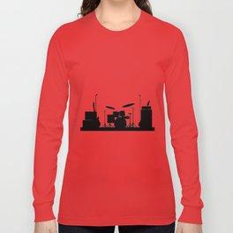 Rock Band Equipment Silhouette Long Sleeve T-shirt