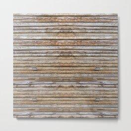Wood Effects Raw Wood Log Cabin Lodge Rustic Metal Print