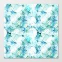 Aqua blue circles dots polka dots bokeh pattern on #Society6 by betterhome