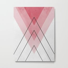 Red and black triangles Metal Print