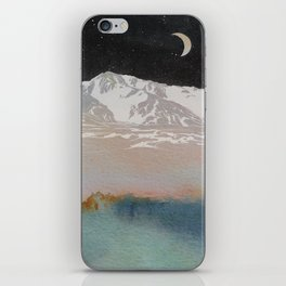 Starry Night with Mountains and Sea iPhone Skin
